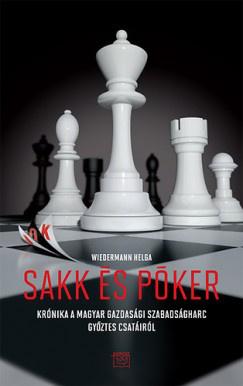A Sakk és Póker könyv borítója.