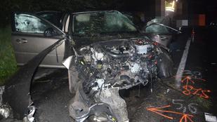 Fának ütköző autóban halt meg egy ember az 53-as főúton