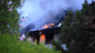 Ikerház lángolt a XI. kerületben