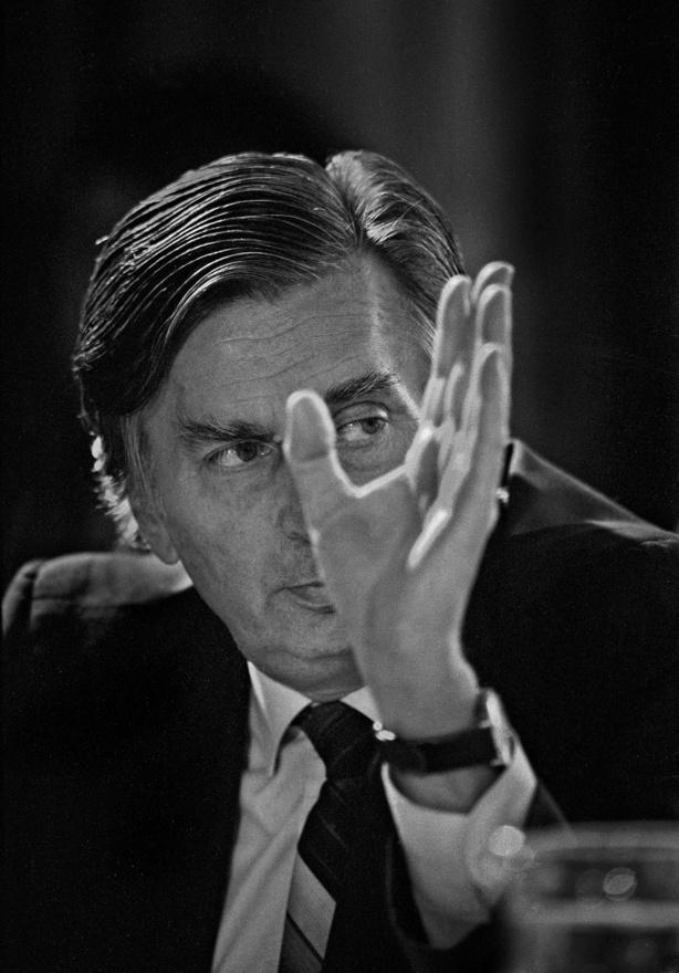 1989.09.15.                         Ellenzéki Kerekasztal. Antall József, későbbi miniszterelnök.