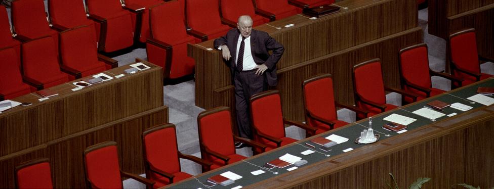 1986.03.05. Moszkva                         Kádár János az SZKP XXVII. Kongresszusának szünetében.