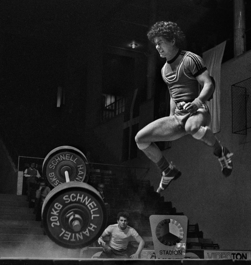 1978.10.27.                           Súlyemelőverseny a budapesti Sportcsarnokban. Szabó Ferenc sikertelen                         gyakorlata.