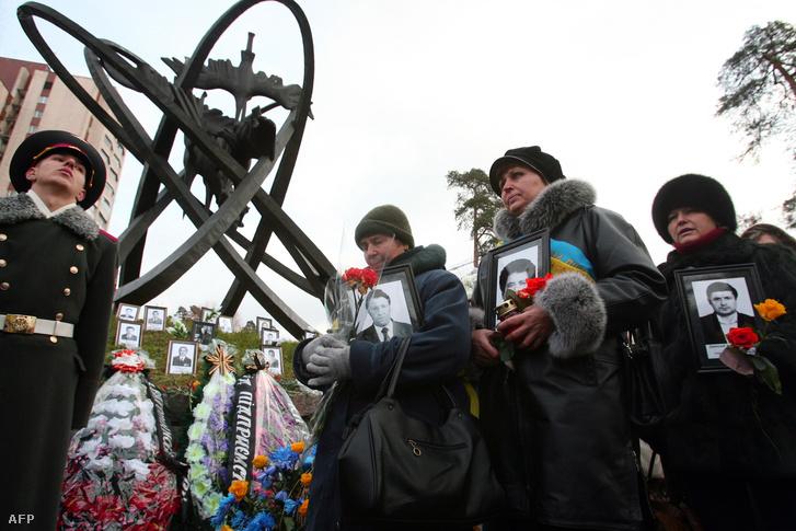 Megemlékezés a likvidátorok emléknapján Kijevben, 2006. december 14-én.