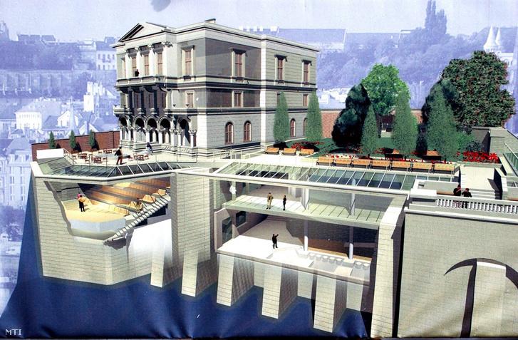Az Ybl-Hatvany-villa újjáépítésének látványterve 2007-ben