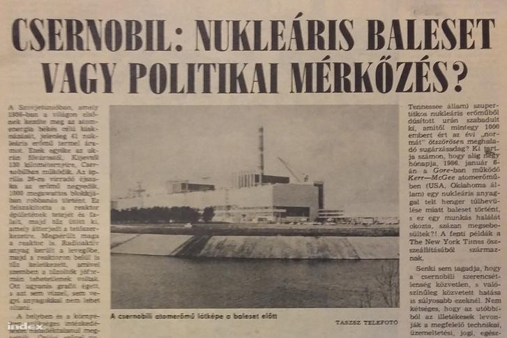 Az Ország-Világ vezércikke 1986-ból.