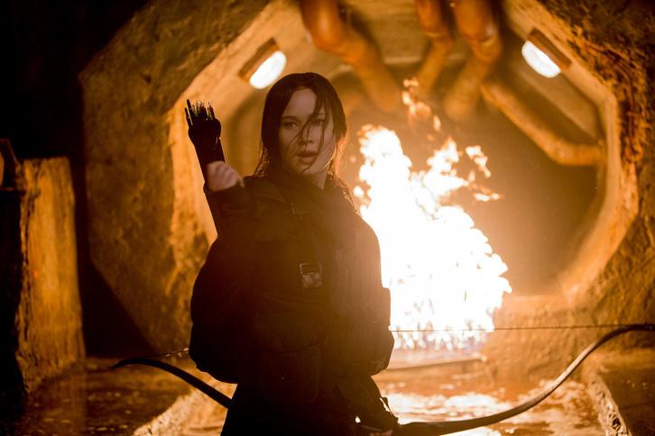 Jennifer Lawrence az Éhezők Viadalában.
