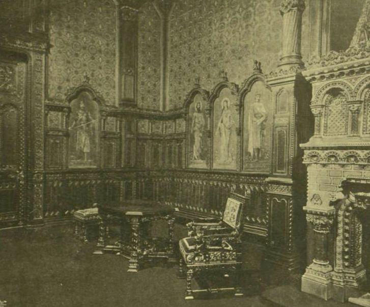 palota belso E F55 szt istvan terem reszlet 1900 VU p137