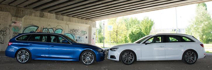 A BMW színe telitalálat, az Audi formavilága viszont rafináltan dinamikus