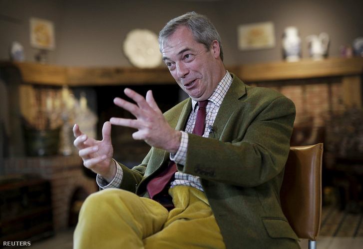 Nigel Farage és a napi 15 ezer font az EU-tól