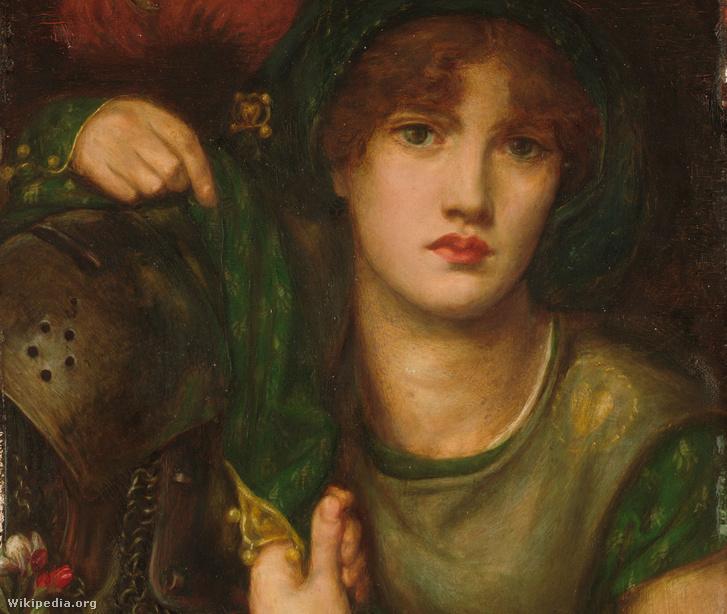 Lady Greensleeves, ahogy Dante Gabriel Rossetti elképzelte 1863-ban