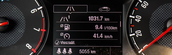 Az átlag ennyit lett, de a pályán hajtva nagyon szereti a benzint a turbómotor
