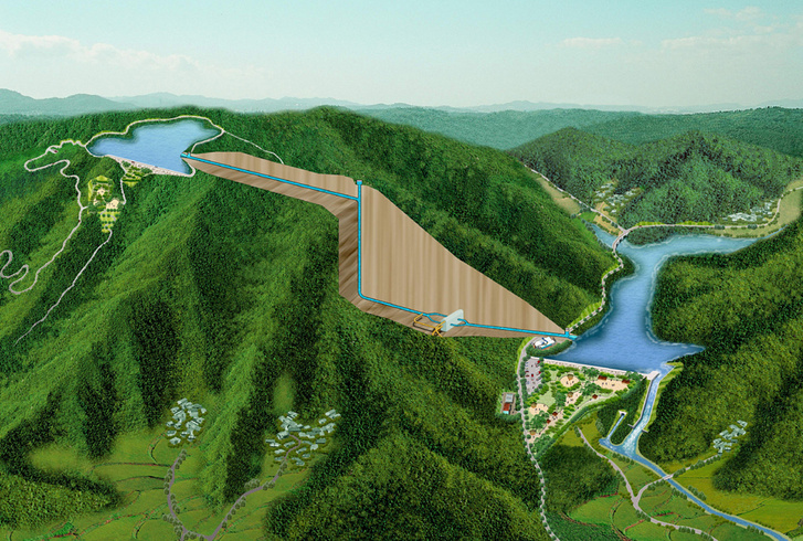 A 400 mW-osra tervezett dél-koreai Yecheon szivattyús energiatározó