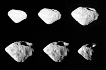 A Rosetta űrszonda képei a Steins kisbolygóról