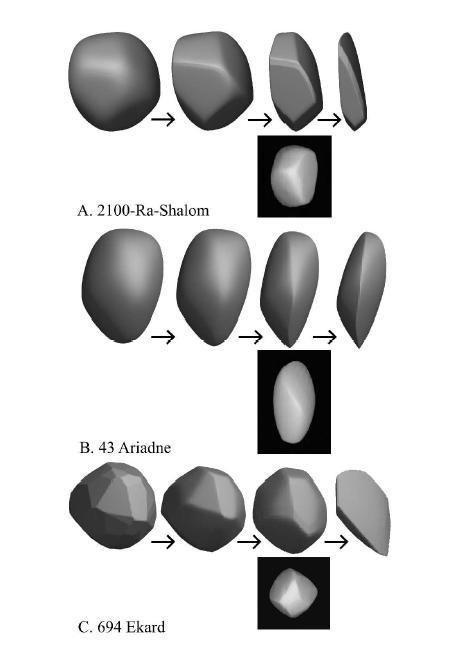 A modellből megjósolták három aszteroida további kopását