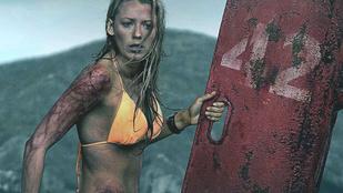 Blake Lively véres és nevetségesen jó nő, új, cápás filmjében