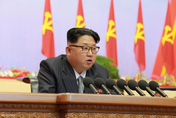 Kim Dzsongun a Koreai Munkapárt kongresszusán