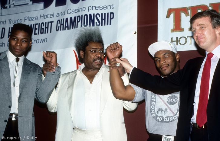 Trump kaszinójában rendezték az 1987-es Mike Tyson-Tyrell Biggs címmeccset