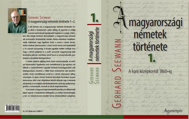 Gerhard Seewann A magyarországi németek története 1. könyvének a borítója.