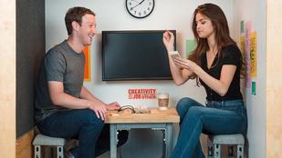 Marck Zuckerberg és Selena Gomez egy nagyon kicsi szobában érezte nagyon jól magát
