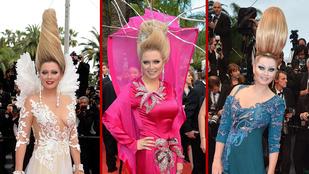 De mi a fenét keres ez a nő Cannes-ban minden évben, és miért ilyen a haja?