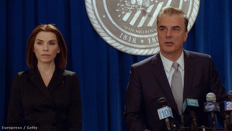 Peter és Alicia Florrick, azaz Chris Noth és Julianna Margulies a The Good Wife című sorozat legutolsó részében