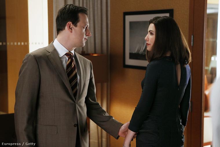 Alicia Florrick és Will Gardner, azaz Julianna Margulies és Josh Charles a The Good Wife harmadik évadában