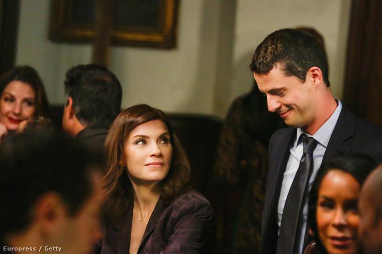 Alicia Florrik és Finn Polmar, azaz Julianna Margulies és Matthew Goode a The Good Wife hatodik évadában