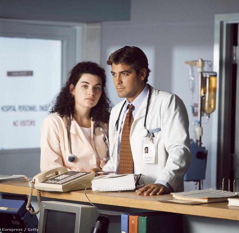 Carol Hathaway és Dr. Doug Ross, azaz Julianna Margulies és George Clooney a Vészhelyzet első évadában