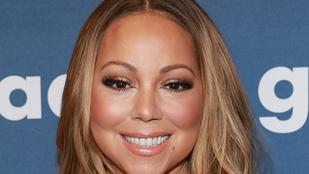 Mariah Carey masszív dekoltázsa New York-ban járt