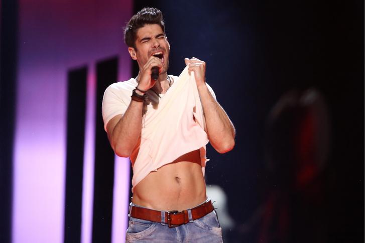 Freddie (Fehérvári Gábor Alfréd) Pioneer című dalát adja elő a 61. Eurovíziós Dalverseny döntőjében a stockholmi Globe Arénában 2016. május 14-én.
