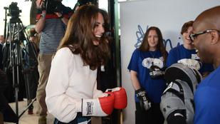 Katalin hercegné bemutatta, hogyan bokszol