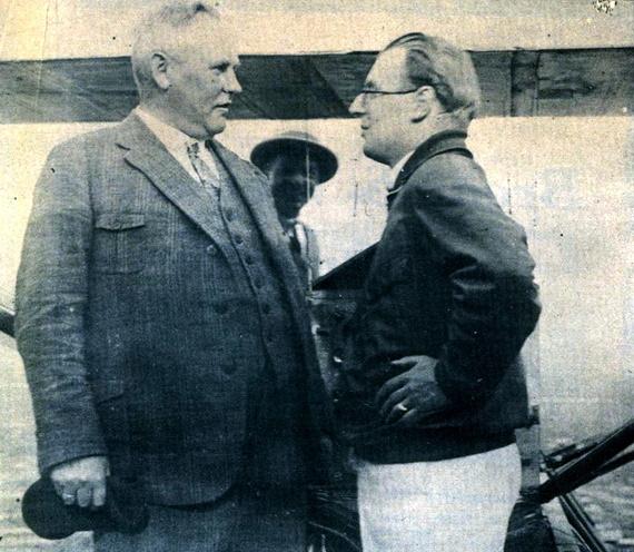 Friedrich Sander (balra) és Fritz von Opel a RAK.1 mellett