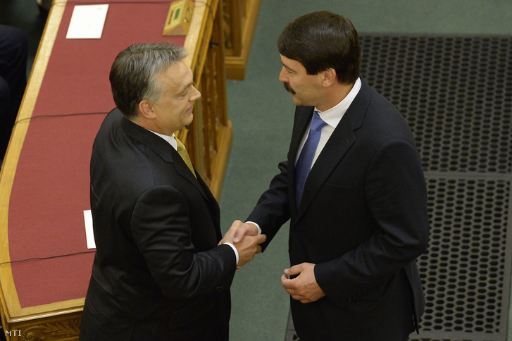 Orbán Viktor és Áder János