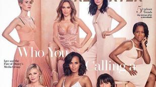 Jennifer Lopez egy rakás gyönyörű nővel vette magát körül