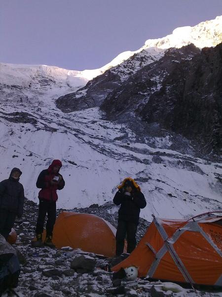 Október 21-i kép az expedícióról