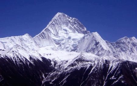 A 7566 méteres csúcs a Minya Konka