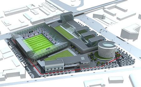 Új FTC stadion látványterve