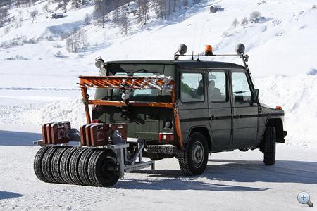A téligumi teszteknél az út karbantartása legalább annyi időt vesz igénybe mint maga a mérés