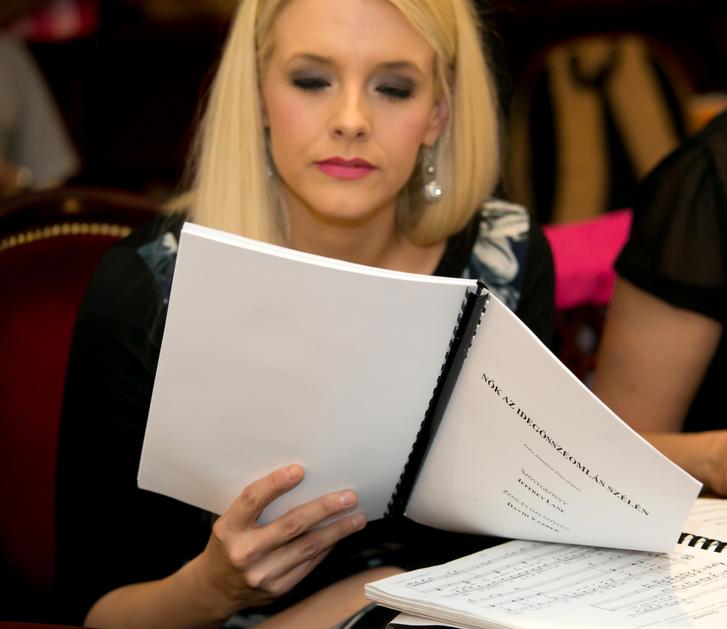 Peller Anna az olvasópróbán