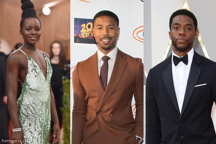Lupita Nyongo'o, Michael B. Jordan és Chadwick Boseman.