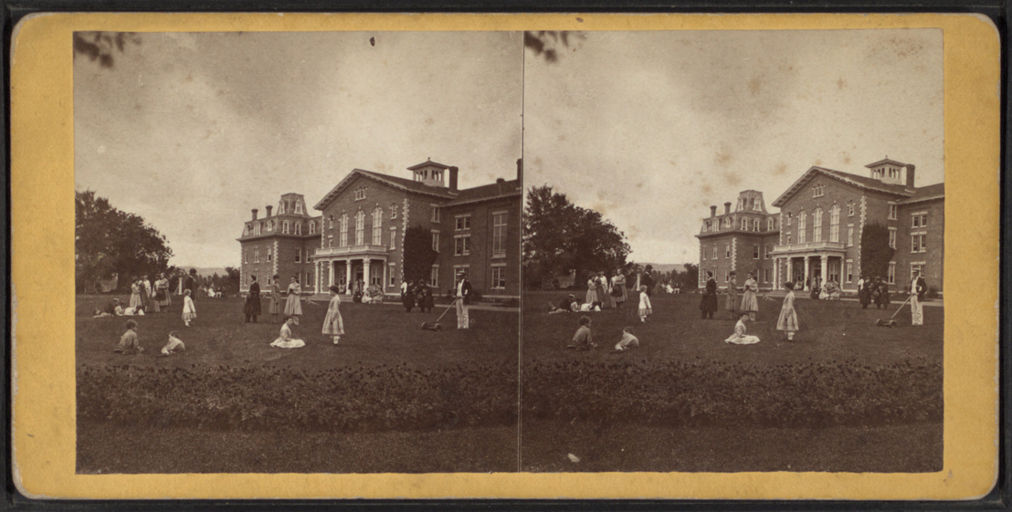 Front of the Mansion and lawn, by Ranger & Austen