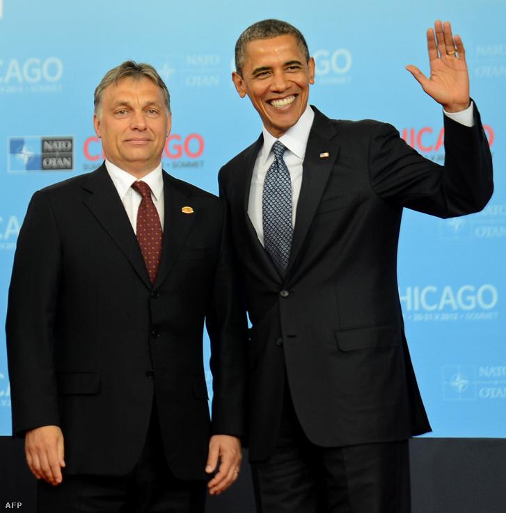 Orbán Viktor és Barack Obama