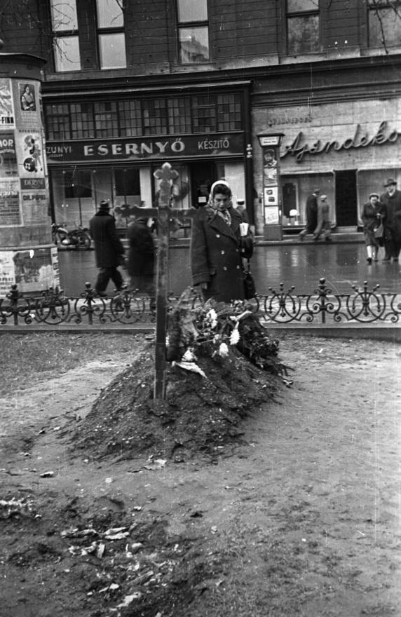 """Miután a szovjetek bejöttek, november 4-ének éjjelén Bauer az Üllői út és Körút sarkán fényképezett az inkább a dalszövegeiről és az írásairól ismert Vándor Kálmánnal. """"Engem a ruszkik elkaptak, ő meglógott, bevittek a Mária Terézia laktanyába. Persze elvették a Leikát, a fényképezőgépemet. A Vándor Kálmán viszont elintézte, hogy engemet kiengedjenek."""" Vándor ezt állítólag Kádárnénál járta ki, de Bauer is megcsinálta a maga üzletét."""