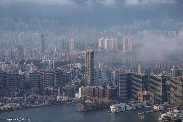 Hongkong látképe