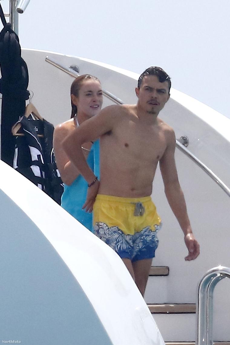 Lindsay Lohan és Egor Tarabasov egy Saint-Laurent-du-Var nevű helyen