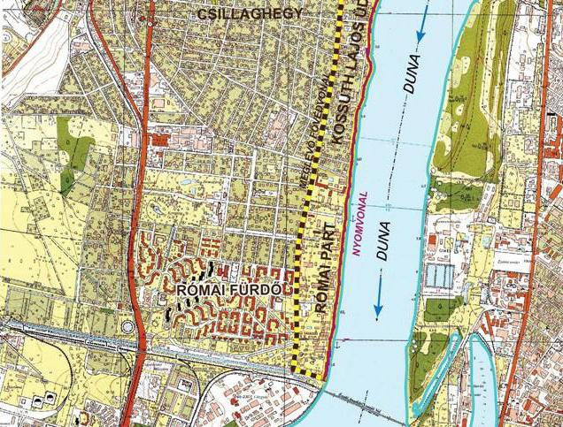 A római partra tervezett gát.(Kattintson a teljes térképért!)