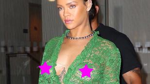 Rihanna már megint úgy öltözött fel, hogy meztelen
