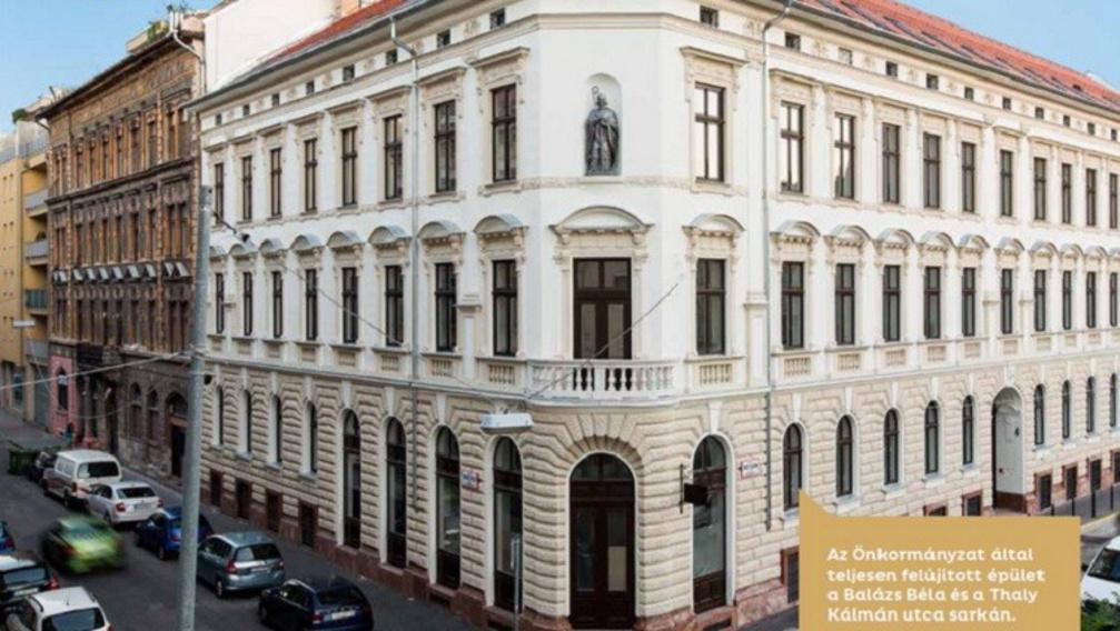 Egy felújított épület Ferencvárosban