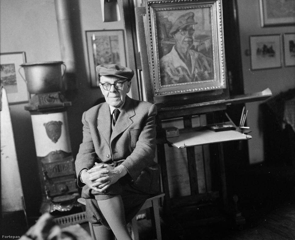 Csabai Wágner József a tokaji művésztelep tagja volt. Mezőtúron született, majd Budapesten tanult, pályáját pedig Békéscsabán kezdte. 1945-ben Mezőtúron                         telepedett le, ahol tanárként dolgozott. A felvétel a művész mezőberényi műterem-házában készült 1965-ben.