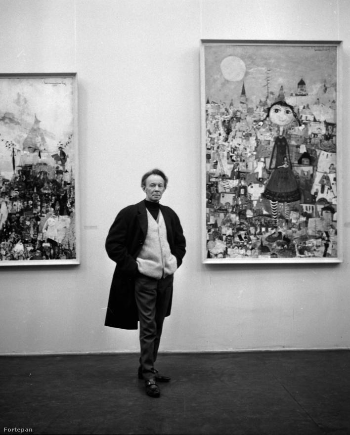 Bornemisza László festő a saját művei előtt. Kezdetben irodalommal próbálkozott, haditudósító is volt Lvivben, majd 30 évesen döntött a festői pálya mellett. Illusztrátorként is ismert volt.